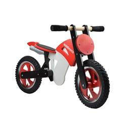Kiddimoto - Balanscykel Scrambler Motocross Röd/Vit