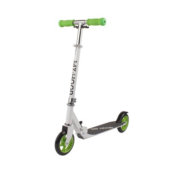 My Hood - Sparkcykel - 145 - Vit/Lime