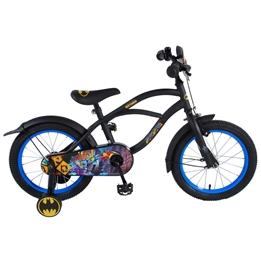 Batman Barncykel Cruiser 16 tum - Stödhjul (Svart)