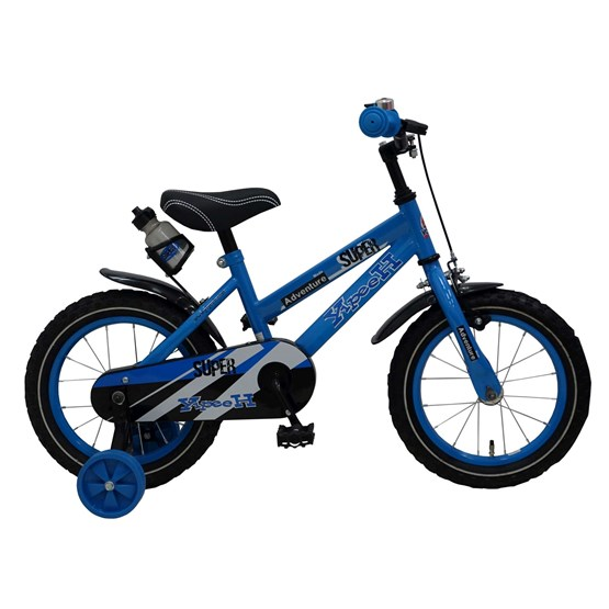 "Yipeeh - Super Blue 14"" Boys Bicycle - 95% Monterad"