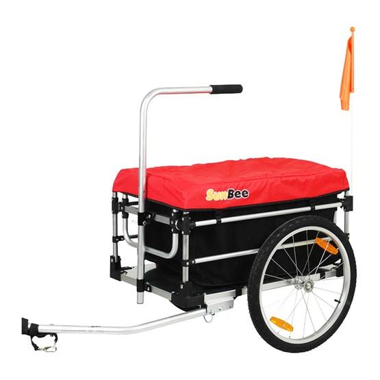 Sunbee - Cykelvagn / Lastvagn -  Montana Plus - Röd/Svart